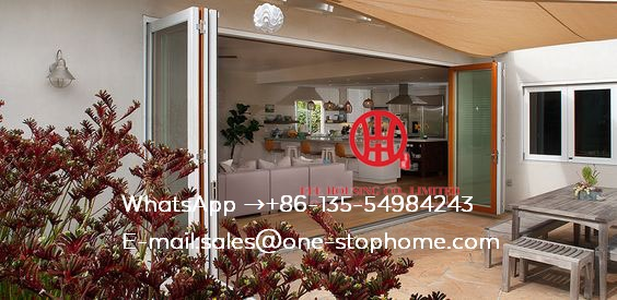 CE European Style Popular Exterior Aluminum Alloy Frame Glass Folding Door Design For Kitchen,Soundproof Bi-Folding Door