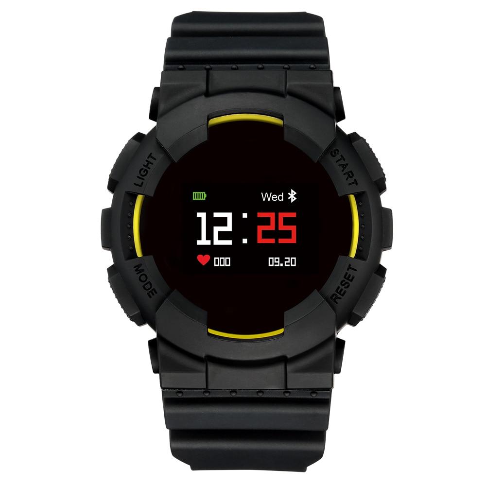 Abay modèle X montre intelligente Bracelet IP68 étanche en temps réel fréquence cardiaque pression artérielle oxygène télécommande Support Android IOS