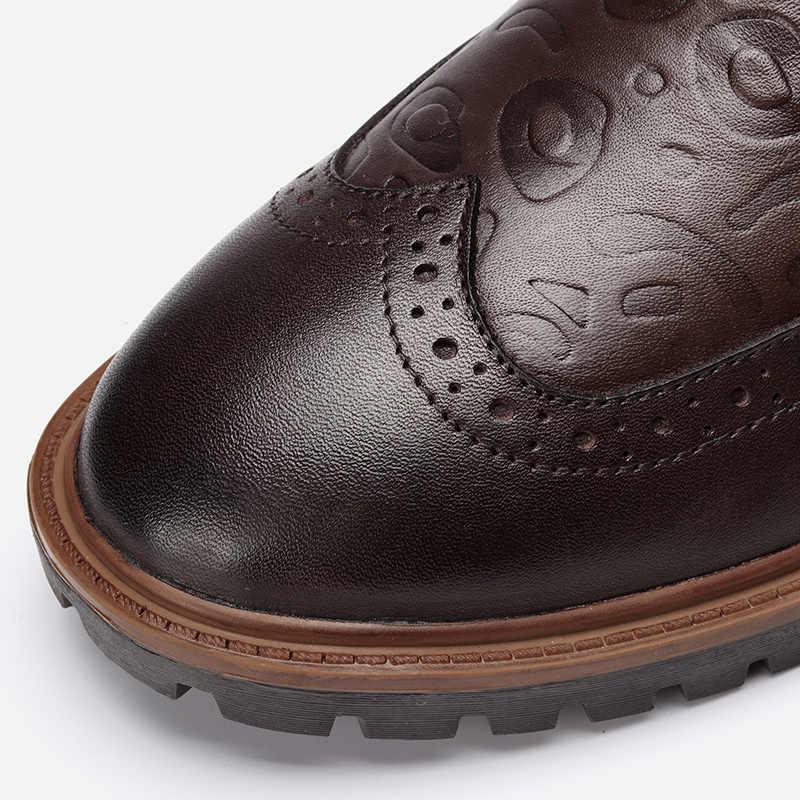 Volnerf Leder Mannen Winter Schoenen Maat 38 ~ 47 Handgemaakte Warme Mannen Winter Laarzen # 3HC598JM