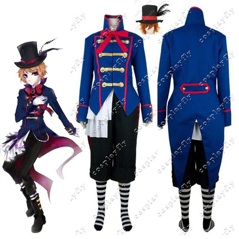 Black Butler Drocell Cainz Cosplay Costume Custom Made Adult Halloween Carnival Christmas without Wig (C0068)