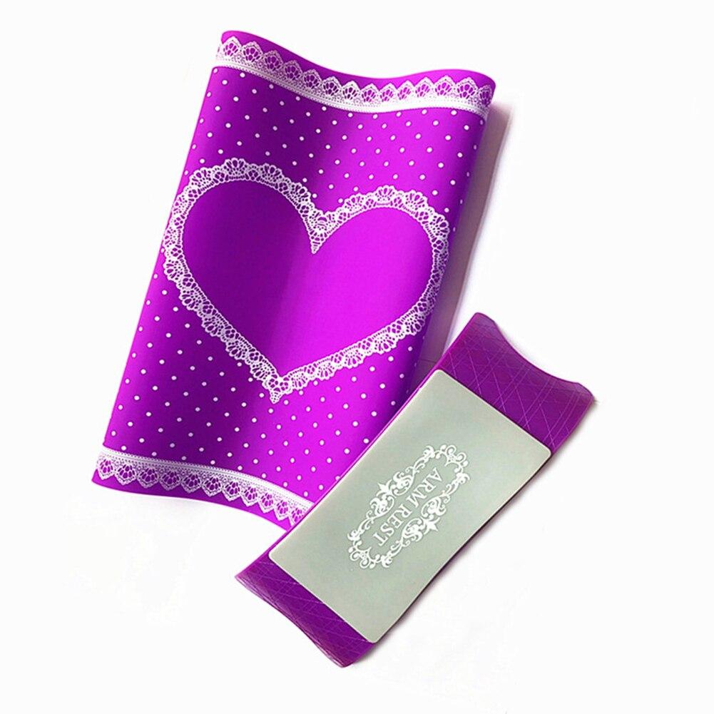 цена на Nail Art Foldable Washable Silicone Table Mat + Hand Pillow Salon Manicure Tool