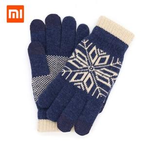 Image 1 - Original Xiaomi männer Wolle Touch Handschuhe Weiblichen Herbst und Winter Warme Handschuhe Touch Screen Telefon Tablet Offizielle Flagship Store