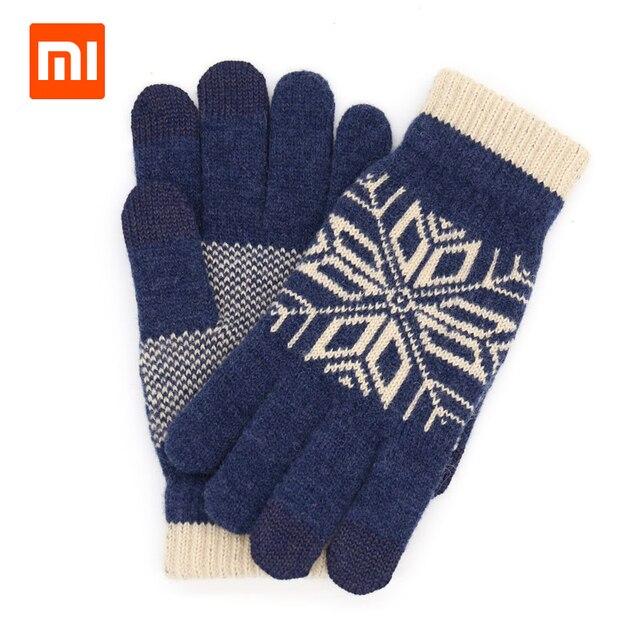 Original Xiaomi männer Wolle Touch Handschuhe Weiblichen Herbst und Winter Warme Handschuhe Touch Screen Telefon Tablet Offizielle Flagship Store