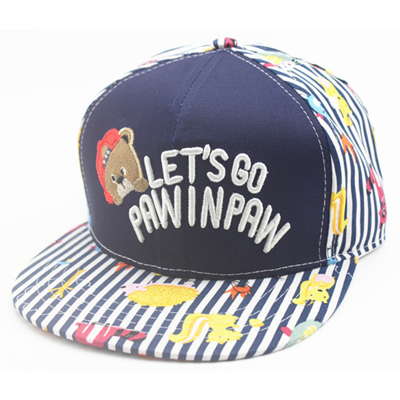 Korean Children 39 s Embroidery Bear Baseball Caps Fashion Design LET 39 S GO Street Dance Hip Hop Outdoor Baseball Hats For Boy Girl in Men 39 s Baseball Caps from Apparel Accessories