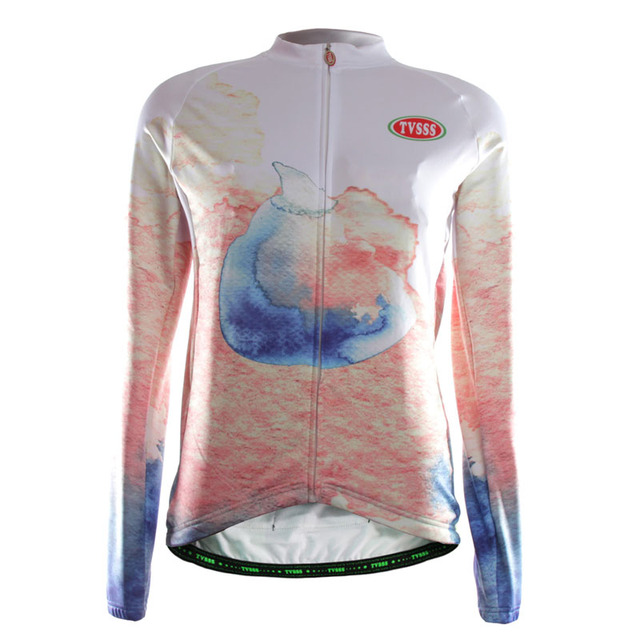 TVSSS Women's Winter Cycling Jersey  Marine Whale Design High Quality Long Sleeve Sportswear Bike Clothes Cycling Clothes