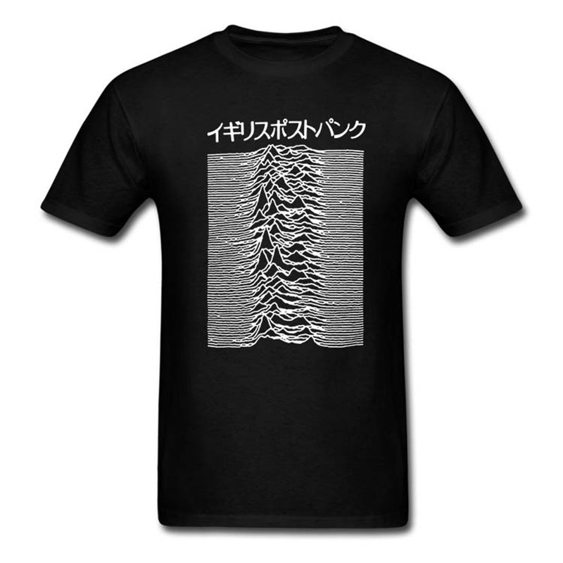 Pulsar Kunst verwendet durch Joy Division auf Unbekannte Freuden T Hemd Post Punk Japanischen Tops T Shirts 100% Baumwolle T-shirt für Männer Frauen