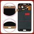 Completo pantalla lcd de pantalla lcd para samsung galaxy j5 j500 oro montaje de la pantalla táctil del digitizador negro + blanco herramientas envío libre
