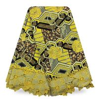 High Quality Good Design Embroidery Voile Lace African Hollandais Guaranteed Super Wax With Stone For Fashion