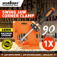 лучшая цена HORUSDY 90 Degree Right Angle Clamp Mitre Clamps Corner Holder Woodwork Aluminum Alloy Right Angle Wood Metal Welding Gussets