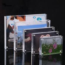 DIY Acrylic Transparent Photo Frame Rectangle Magnet Picture High Quality Frames for Home Decor Birthday Gift Supply