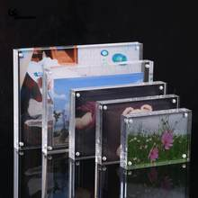 DIY Acrylic Transparent Photo Frame Rectangle Magnet Picture Frame High Quality Frames for Home Decor Birthday Gift Supply(China)