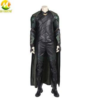 Thor 3 Ragnarok Loki Cosplay Costume Thor Ragnarok Cosplay di Cuoio Dei Pantaloni Della Maglia Mantello Costume Di Halloween Per Gli Uomini Adulti