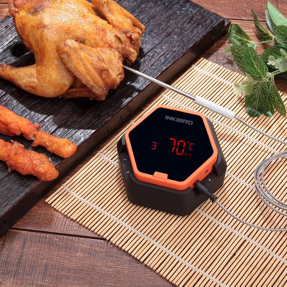 цена на Inkbird IBT-6X Digital Food Cooking Bluetooth Wireless BBQ Thermometer With Six Probe For Oven Meat Grill Smoking BBQ Free APP