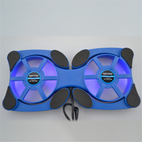 Portable 12 To 17 Inch Laptop Heatsink Bracket Cooling Pad Foldable Design Cooler Base With Light