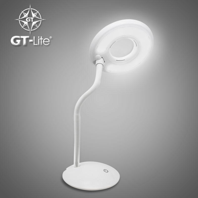Desk Lamp Wattage: GT-Lite Dimmable LED Desk Lamp, 5 Dimming Levels, Eyes-care,,Lighting