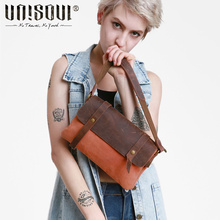 UNISOUL Fashion Simple Canvas Shoulder Bag Vintage Small bags for Women Handbag Detachable shoulder strap Crossbody bag