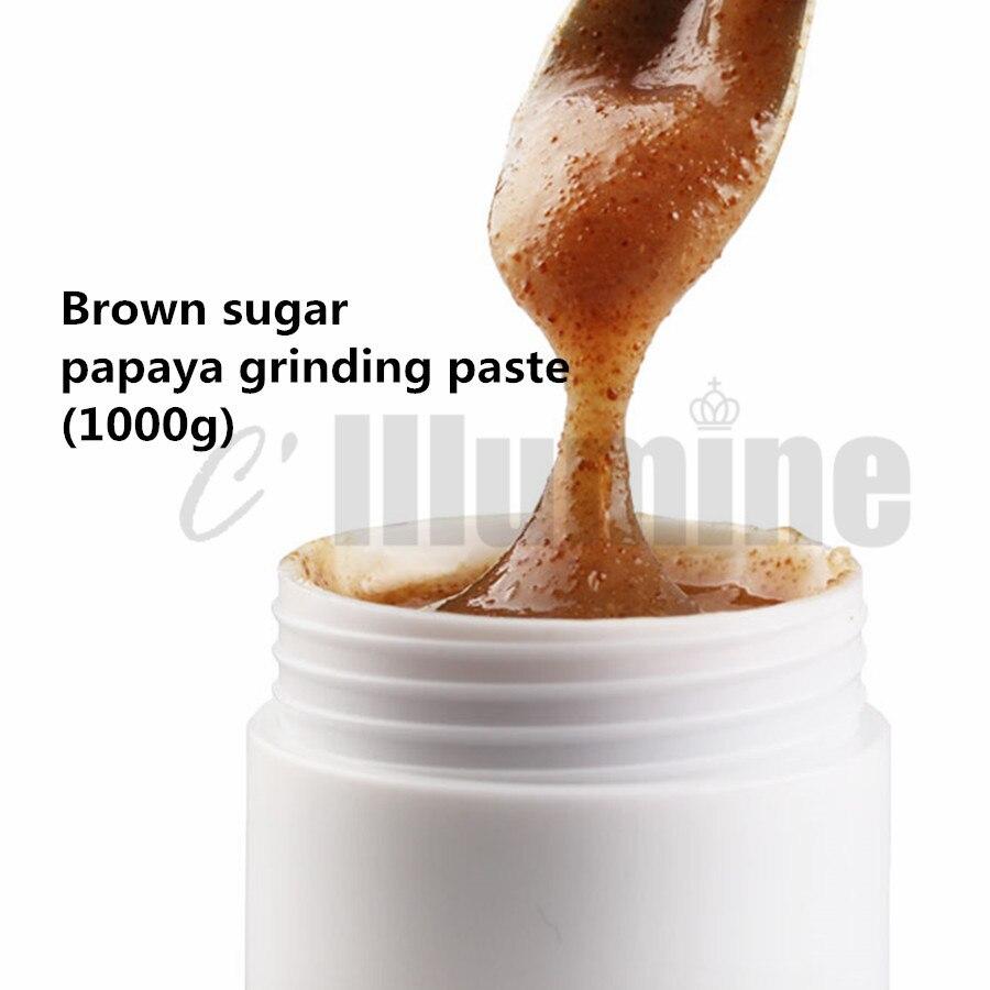 1000g gommage du corps du visage crème brun sucre papaye Exfoliation du corps peau de poulet enlèvement folliculaire
