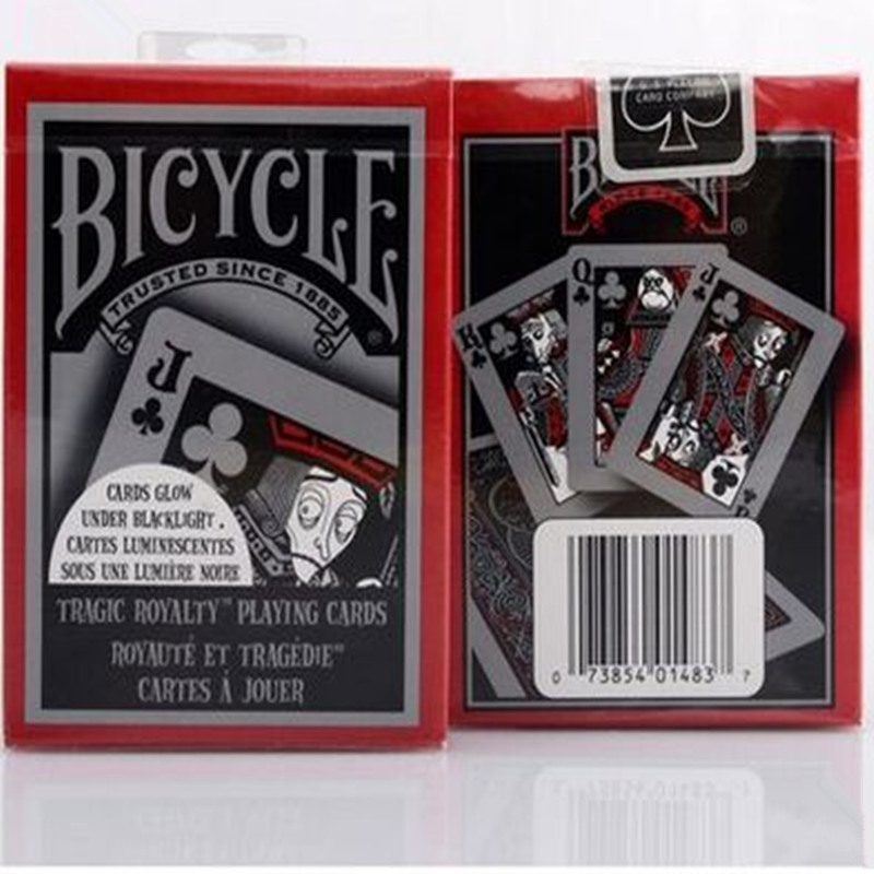 Cykel Tragiska Royalty Poker Standard Pokerspelkort Brand New Sealed Magic Deck Props Magia Tricks 1st Magiska Toys