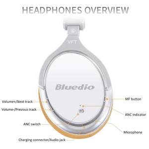 Image 4 - 業bluedio F2ワイヤレスbluetoothヘッドフォンアクティブノイズキャンセル低音ステレオハイファイ音楽koptelefoonマイク通話ヘッドセットauriculares