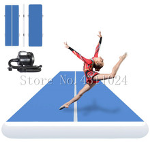 цена на Free Shipping 14x2m/15x2m Inflatable Air Track Gymnastics Mattress Gym Tumble Airtrack Floor Tumbling Air Track Free Pump