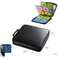 ymjywl Blu ray Disc Box High quality CD Case 160 Discs Capacity CD/DVD Storage Bag For Car Travel CD Storage Box