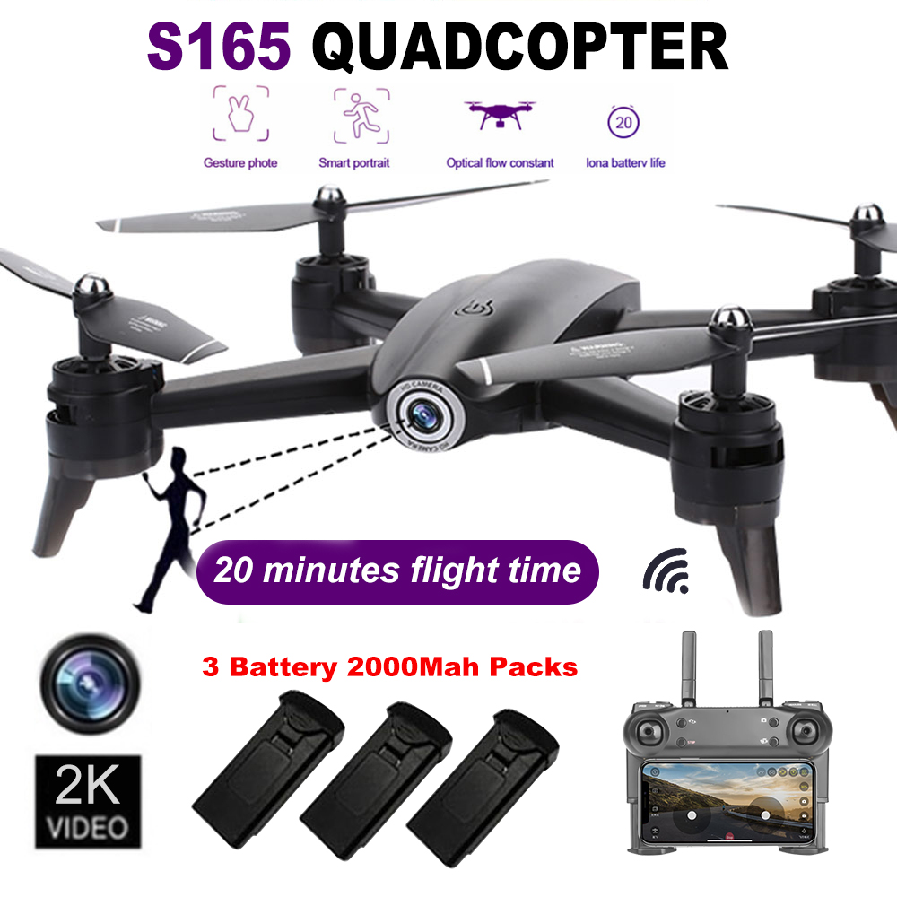 In Stock S165 RC Drone Optical Flow 1080P HD Dual Camera Real Time Aerial Video RC Quadcopter Aircraft Positioning RTF Toys image
