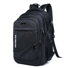 New mens business computer backpack Oxford cloth large-capacity wear-resistant waterproof breathable