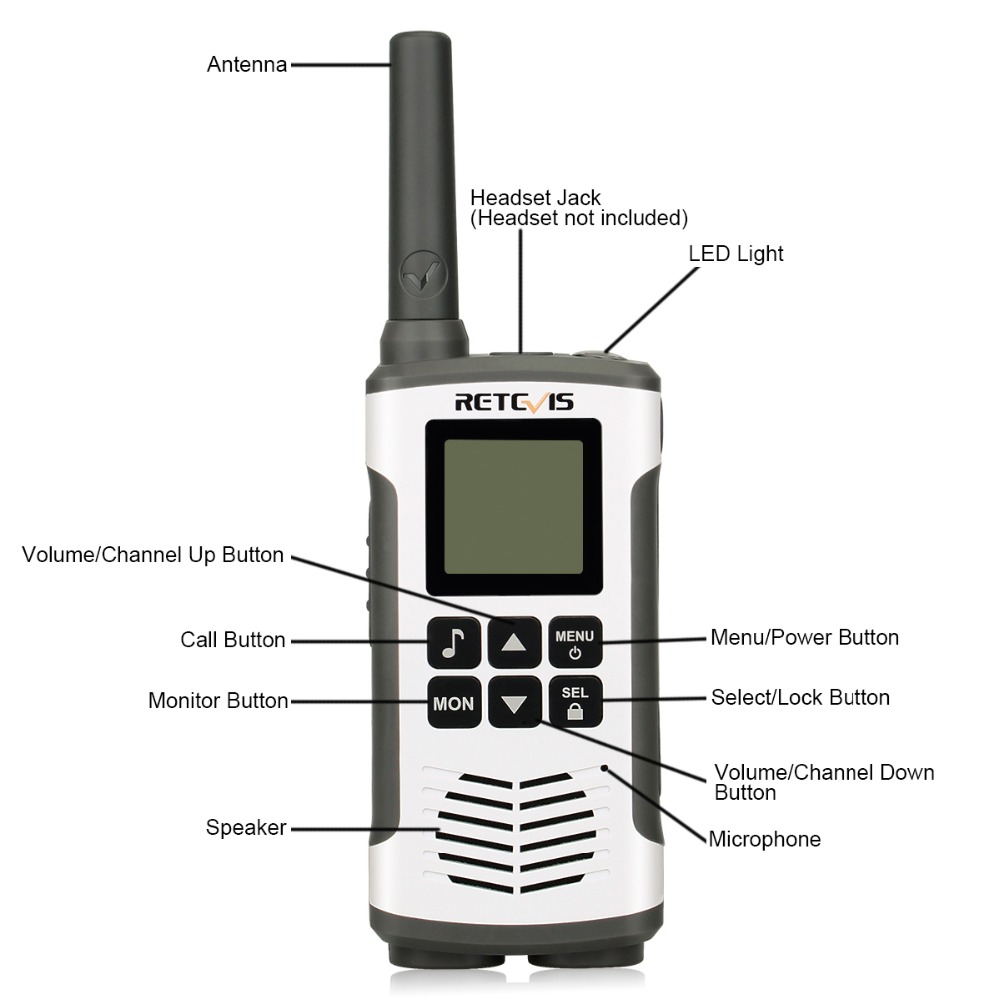 Image 3 - Retevis RT45 PMR446 Portable Two Way Radio 2pc Walkie Talkie 0.5W  PMR 446MHz FRS VOX Rechargeable Battery For Motorola TLKR T50hf  transceiverwalkie talkiewalkie talkie retevis