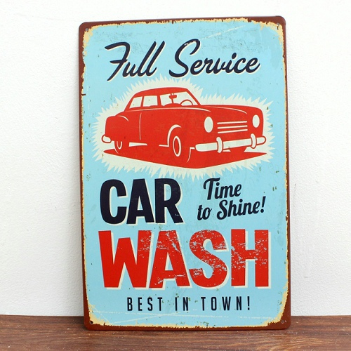 New Hot sale Painting Tin plate garage services car wash Retro house Tin sign coffee plaque Painting wall art crafts 20*30 CM