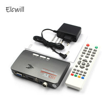 Hot 1080P HDTV DVB T/ DVB T2 TV Set top Box Digital Terrestrial HDTV Tuner Receiver HDMI/VGA/AV for LCD/CRT PC Monitor