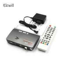 Hot 1080P HDTV DVB T/ DVB T2 TV Set top Box Digital Terrestrial เครื่องรับสัญญาณ HDTV HDMI/VGA/AV สำหรับ LCD/CRT PC Monitor