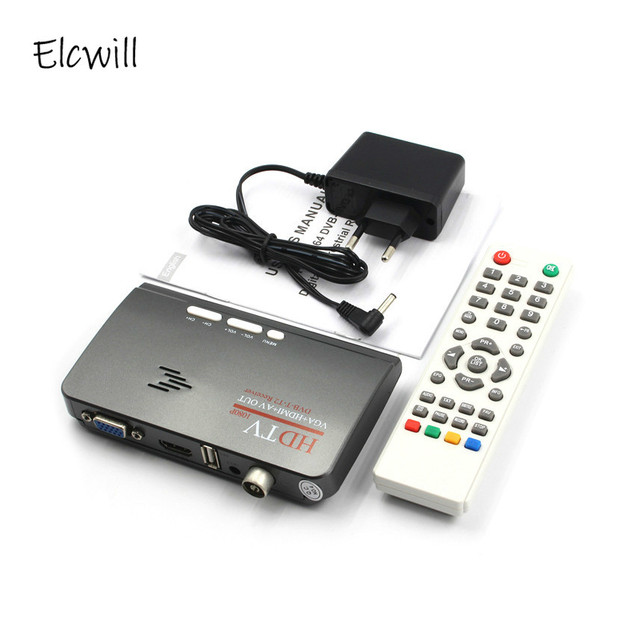Hot 1080P Hdtv Dvb t/DVB T2 Tv Set Top Box Digitale Terrestrial Hdtv Tuner Ontvanger Hdmi/Vga/Av Voor Lcd/Crt Pc Monitor