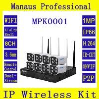 Высокое качество 8CH 720 P HD Wi Fi NVR комплект ESCAM WNK803 безопасности Камера Системы открытый IP66 H264 Ночное видение наблюдения Системы K1
