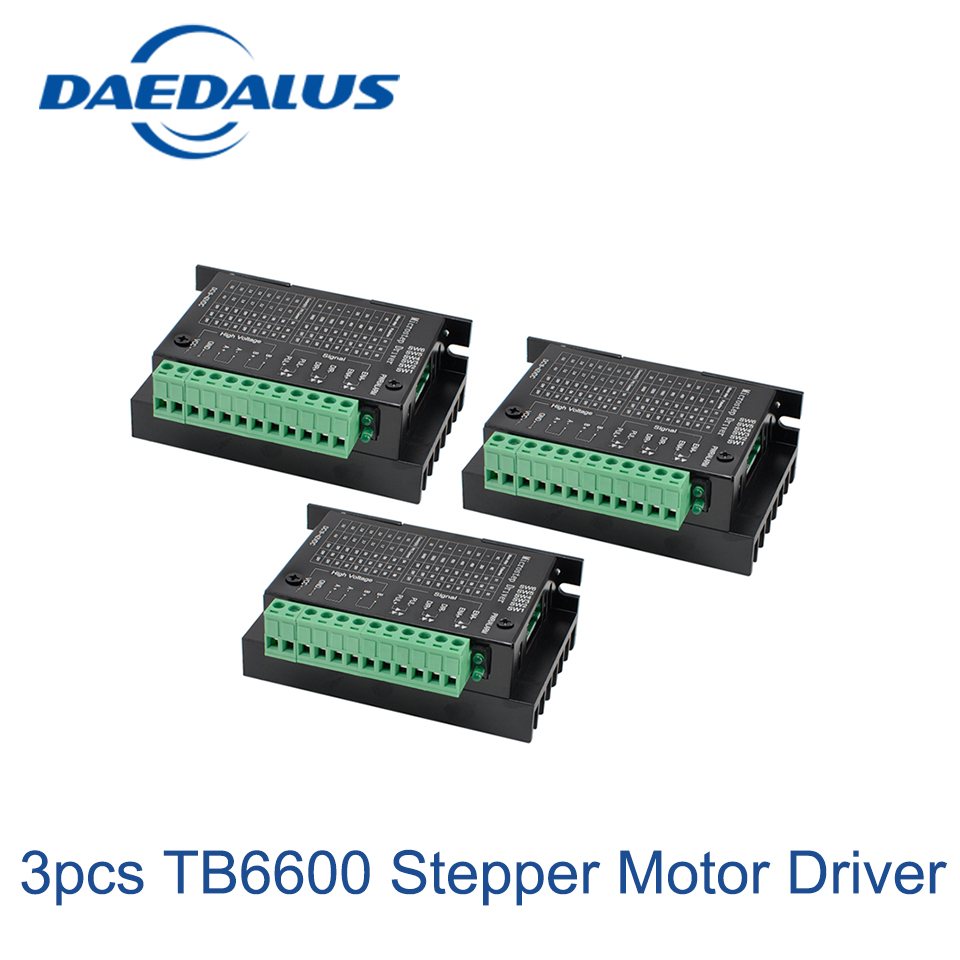3PCS Tb6600 Stepper Motor Driver Controller 4a 9~42v Micro-step Cnc 1 Axis New Upgraded Version Of The 42/57/86 2018 spring autumn black long dresses full sleeve empire floral print patchwork vintage designer maxi women dress clothing xxl