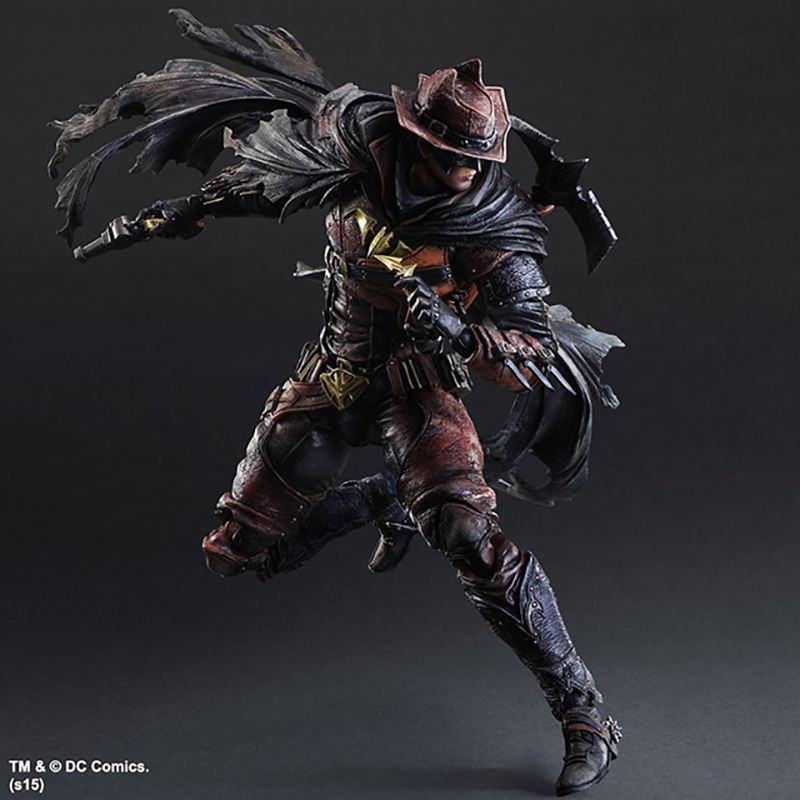 DC Comics Variant SQUARE ENIX Play Arts KAI Batman Timeless Wild West Red PVC Action Figures Collectible Model Toys Doll 27cm 2018 27cm transformers toys titan changers morpho titans bumblebee optimus prime shatter action figures collection model doll