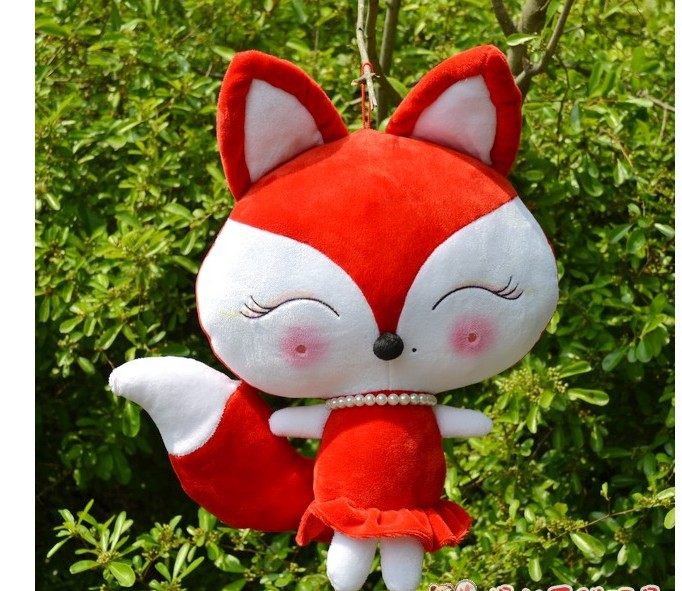 creative plush red fox toy stuffed red beauty fox doll gift about 50cm