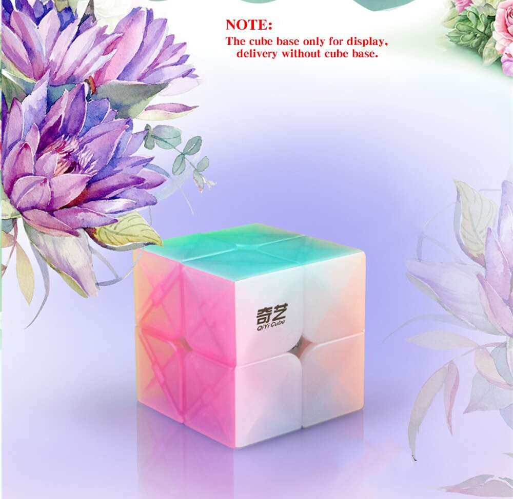 QIYI personalize 2x2x2 Jelly Stickerless Puzzles cube 3x3x3 magic speed qiyi cubes 4x4x4 cube 5x5x5 qiyi cube educational toys 9
