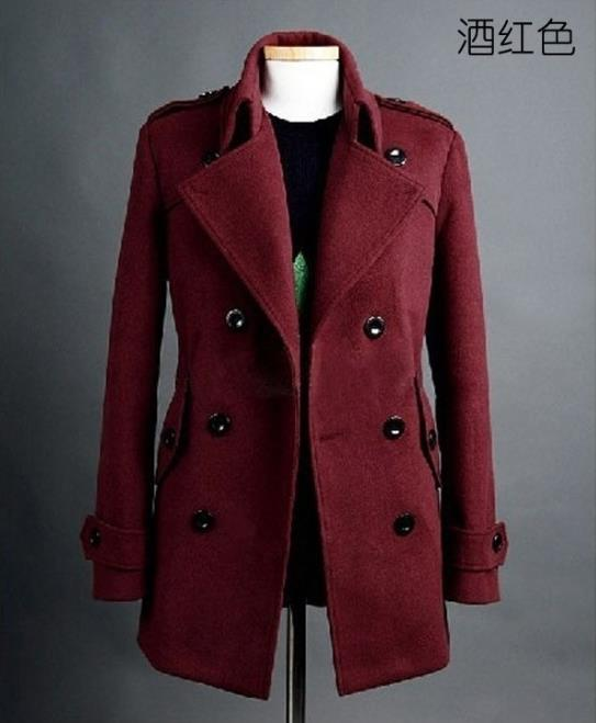 Red Wool Pea Coat Promotion-Shop for Promotional Red Wool Pea Coat ...
