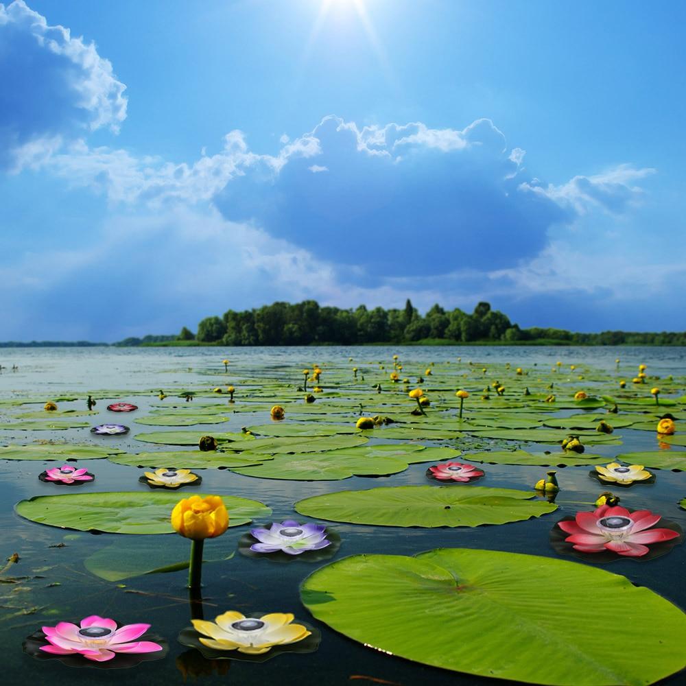 Outdoor Floating Pond Night Light Rgb Led Lotus Flower