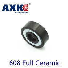 Axk 608 Full Ceramic Bearing ( 1 Pc ) 8*22*7 Mm Si3n4 Material 608ce All Silicon Nitride Ceramic Ball Bearings цена и фото