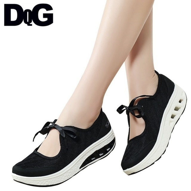 GH 2018 Summr mujeres Zapatos plataforma plana malla Slip en Zapatos Mujer Casual sólido negro pisos Mujer Zapatos Chaussures Femme