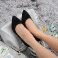 Mujeres Zapatos de Cuero Genuino Dedo Del Pie Puntiagudo Tacones Altos Las Mujeres Bombea Los Zapatos 2016 Nuevo Diseño de La Vendimia Roja Atractiva Bombas de Oficina SMYCN-A0016