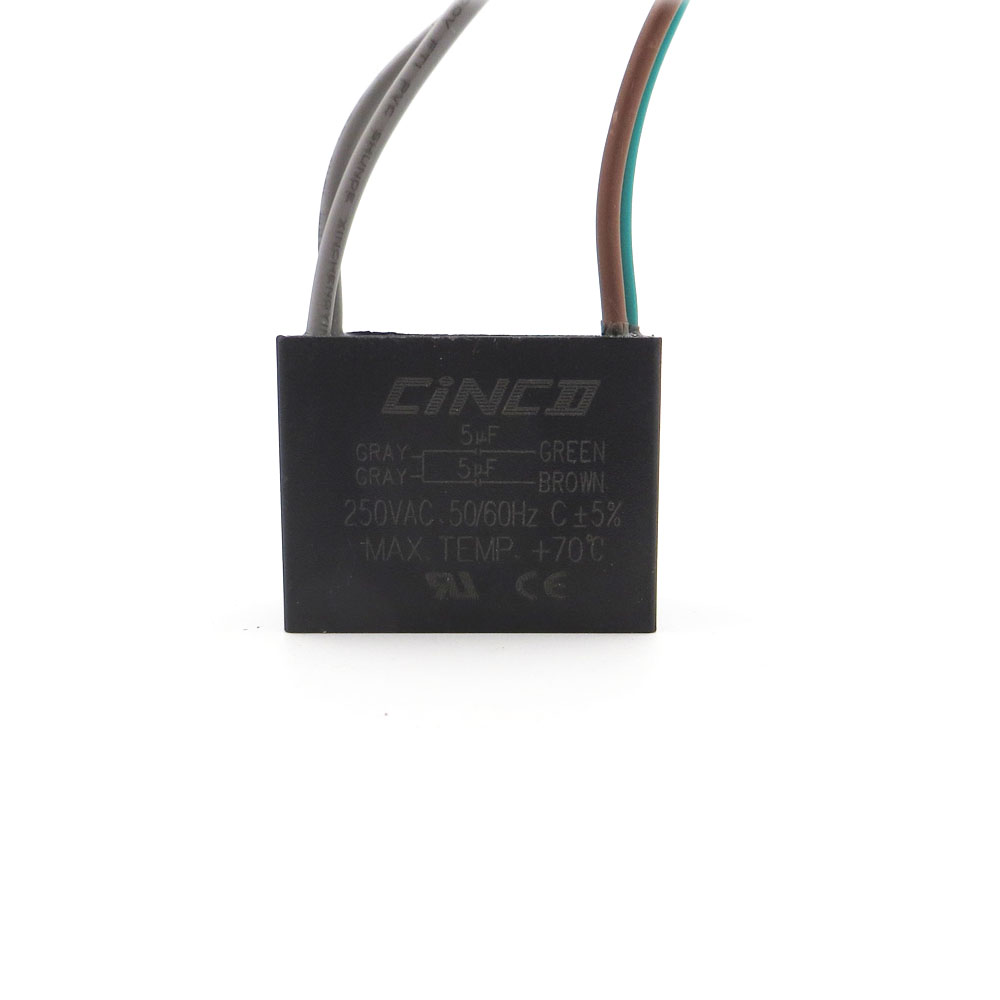 medium resolution of cbb61 5uf 5uf 250v 4 wires motor run capacitor electrical fan 3 4 5 speed electric fanners electronic regulator cable 250vac in inductors from home