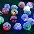 9M Led Christmas Lights Outdoor 20 Rattan Balls String Fairy Lights Guirlande Lumineuse Exterieur Navidad Luces Decorativas