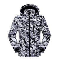 Men Camouflage Tactical Soft Shell Jacket Outdoor Camping Climbing Windbreaker Military Jackets Shark Skin Fleece Warm Coats