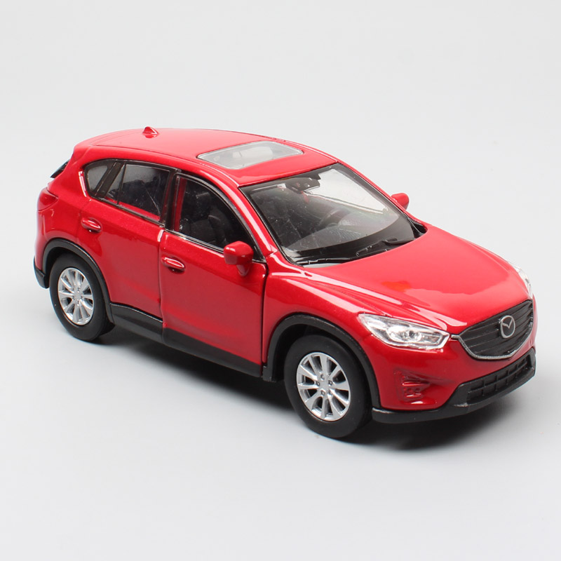 Children's 1:36 Welly Mazda CX-5 CX5 SUV Cars Miniature Diecasts & Toy Vehicles Modeling Pull Back Toys For Boys Scale Products