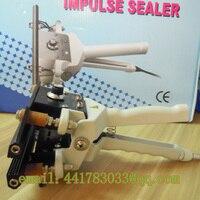 Precio FKR-200 sellador de clip grande de la bolsa de mano máquina de sellado simple portátil de la mano del sellador de impulso de la máquina de sellado