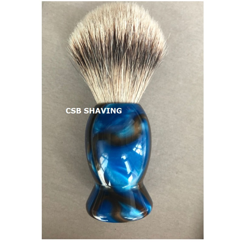 купить CSB High Quality Silvertip Badger Hair Knot 20mm 100% Handmade Acylic Handle Shaving Brush Mustache Beard Shave Wet Tool по цене 1903.93 рублей