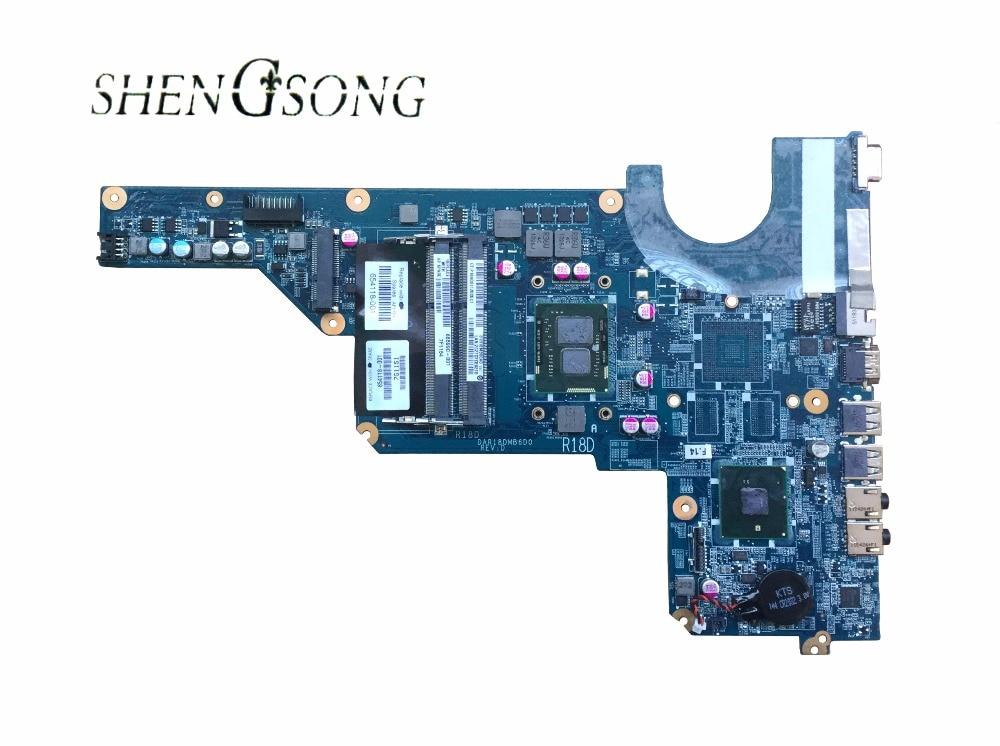 Livraison gratuite FIT POUR HP G4 G6 G7 G4-1000 G6-1000 ORDINATEUR PORTABLE CARTE MÈRE CPU: I3-370M 655990-001 DAR18DMB6D1