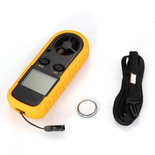 DSHA New Sizzling Handheld Digital LCD Wind Velocity Meter Thermometer Anemometer for Surf Crusing